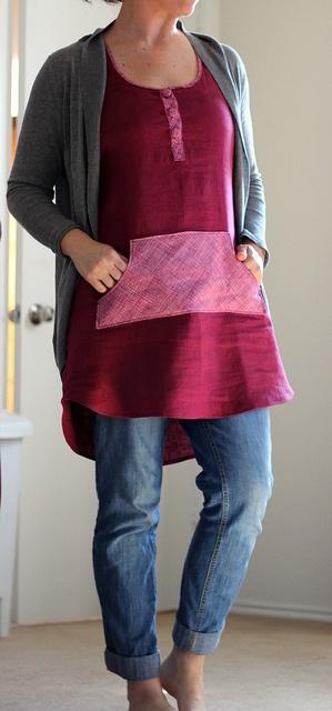 wiksten linen cotton tank dress