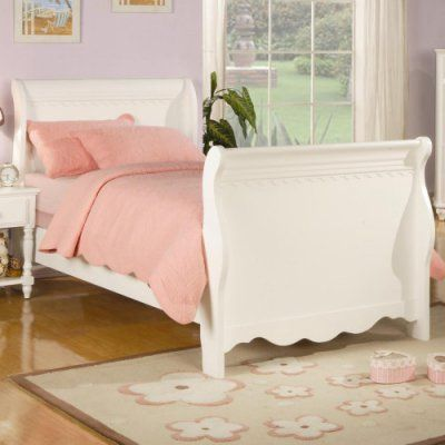 Coaster Furniture Pepper Sleigh Bed - White, Size: Full Sleigh Bed - 400360F
