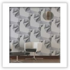 Carta da parati anni 70 | Shapes Grey - Spidersell Italia | Decorazione creativa