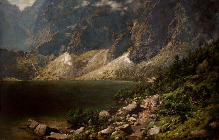 Aleksander Mroczkowski, Morskie oko, 1891, własność: MNK