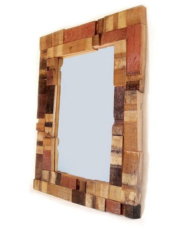 mirror frame Take a bunch of reclaimed or scrap wood and cobble them together to make a perfectly stylish frame for your mirror or pictures.... https://kuttlefish.com/items/idea/mirror-frame1437