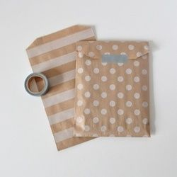 striped and dotted gift bags at Happy Home - Big Cartel