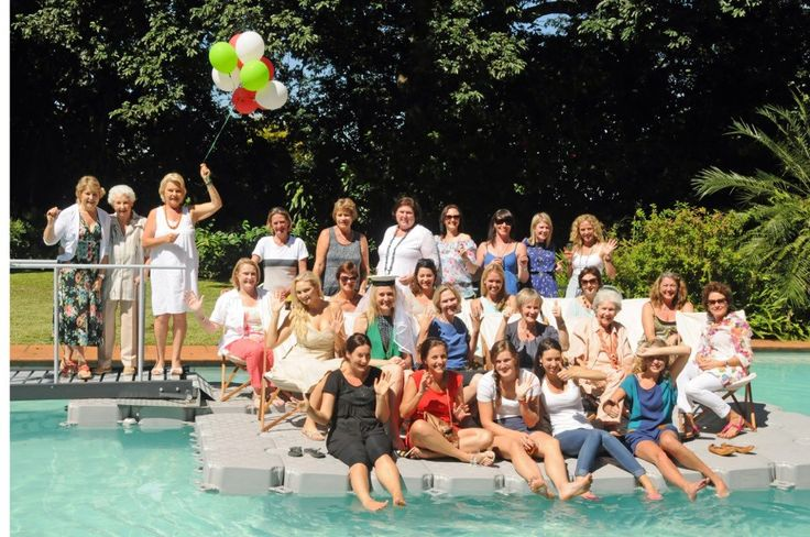 Bridal Shower guests have fun on a DOCKPRO floating platform