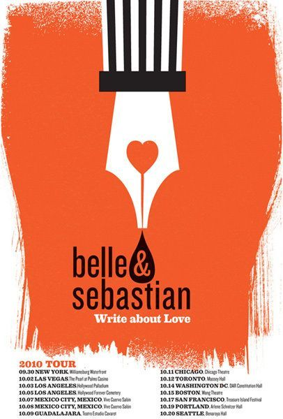 belle and sebastian gig poster nice texture