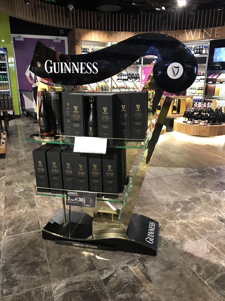 Fab use of iconic brand icons for this cool display in Dublin Airport.  Also benefits from plenty of surrounding space so it is truly eye catching
