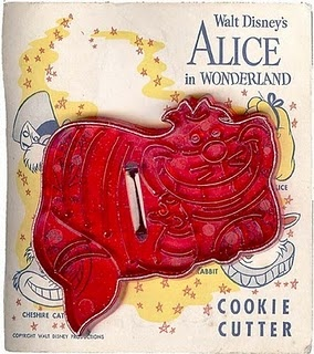 Walt Disney's Cheshire Cat cookie cutter; Domar Plastic Company, Oklahoma City, OK (no longer in business); these are the most difficult to locate and are very rare.