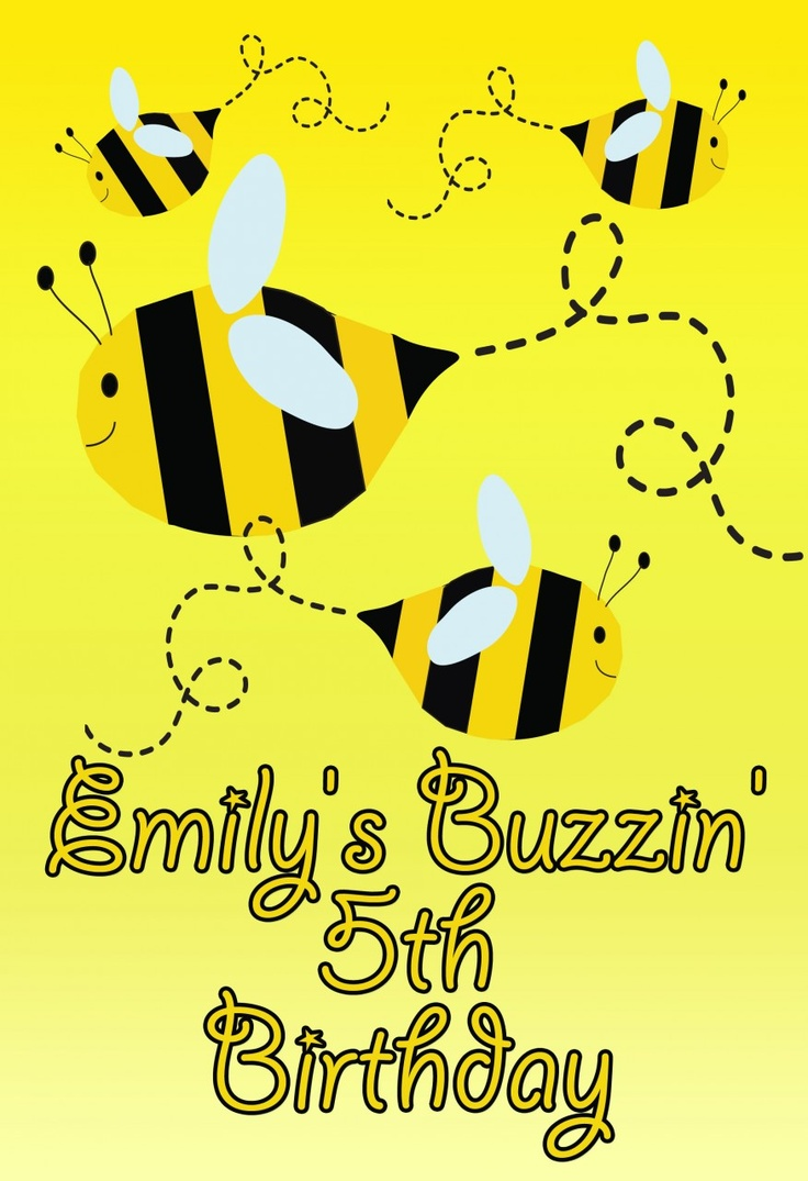 World of Pinatas - Bee Personalized Poster, $16.99 (http://www.worldofpinatas.com/bee-personalized-poster/)