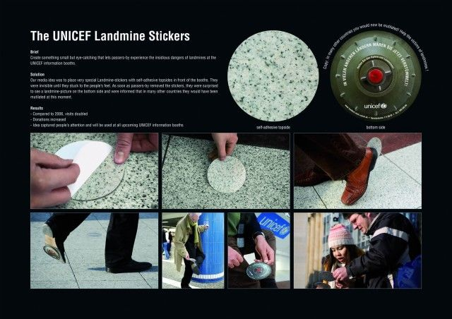 landmine stickers: such a great idea!
