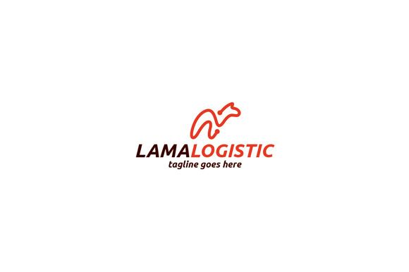 Lama Logistic Logo Template by Shaoleen on @creativemarket