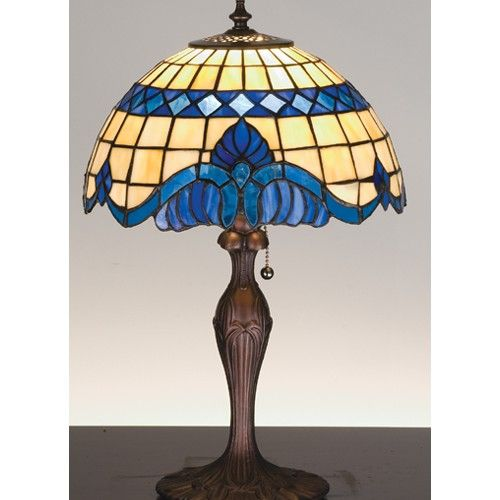 Meyda Lighting 31201 Tiffany Style Stained Glass Baroque Accent Table Lamp H