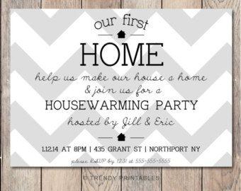 Housewarming Party Invitation Housewarming by TrendyPrintables