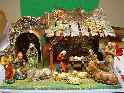 19 Best Vintage Christmas Nativity Sets Images On