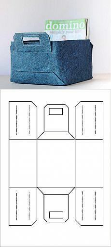 Фетровый (или из плотной кожи)  короб / Организованное хранение /
