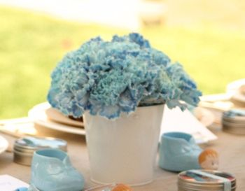 Blue carnation centerpieces. 10 stems needed.