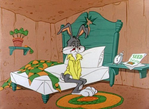 Bugs bunny bed tired                                                                                                                                                                                 More