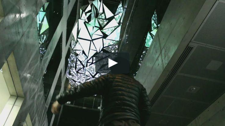 Interactive Mapping Installation in Japan.  OpenFrameworks + Xtion + Resolume + Houdini  Visual Artist Takuto Usami (noTempo) 右左見拓人  SoundCreator Yusuke…