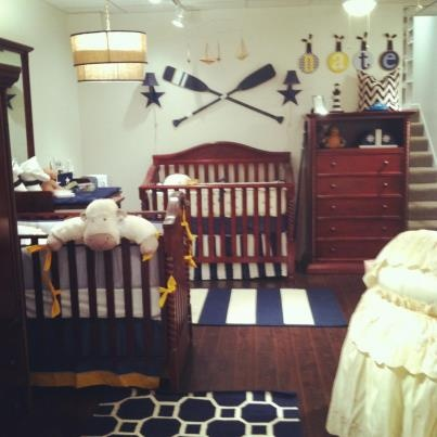 NYC Store Domani Collection Wiith Bella Crib In Mahogany