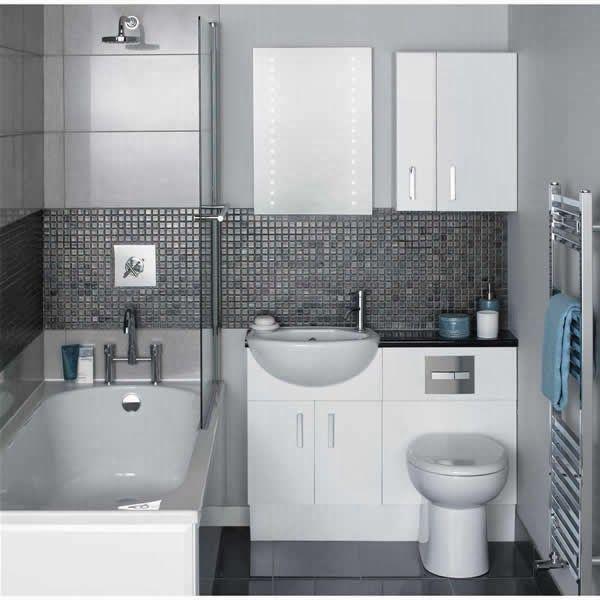 Love the built in sink $& toilet Pabla en casa: 35 Baños pequeños y funcionales