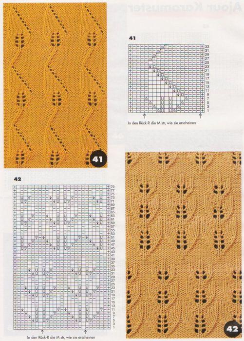 Красивые узоры спицами(плетёнка,резинка,ажурные квадраты,теневые узоры)