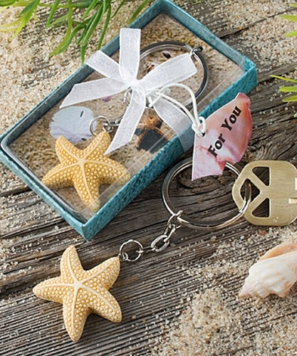 Starfish favor, beach party favors, Keychain Favor, beach wedding favors, party favor, beach wedding favor
