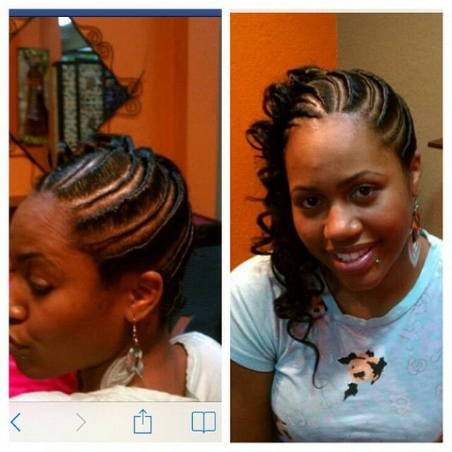 Protective Style Flat Twists Into A Ponytail