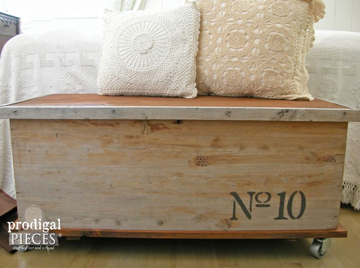 Industrial Chic Cedar Chest in Farmhouse Bedroom After Curbside Makeover by Prodigal Pieces | www.prodigalpieces.com