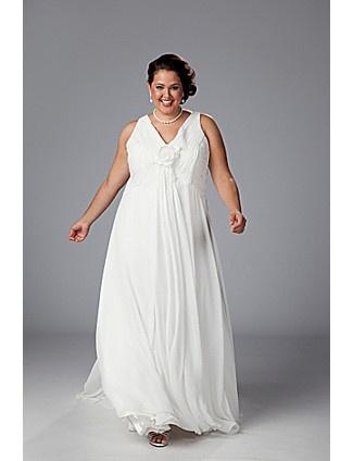 A beautiful plus size bridal gown with a gorgeous v-neck style & floral details.Information Wedding, Bridal Dresses, Plus Size, Wedding Gowns, Chiffon Empire, Bridal Boutique, Sydney Closets, V Neck Chiffon, Empire Waist