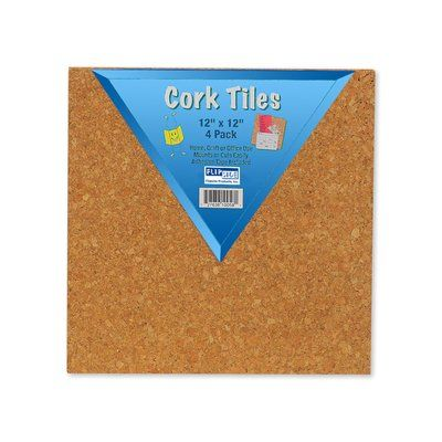 """Flipside Products Cork Tiles Wall Mounted Bulletin Board, 12"""" x 12"""" Frame Finish: Light Brown"""