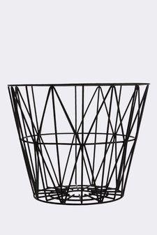 Wire Basket stl S Svart Ferm living
