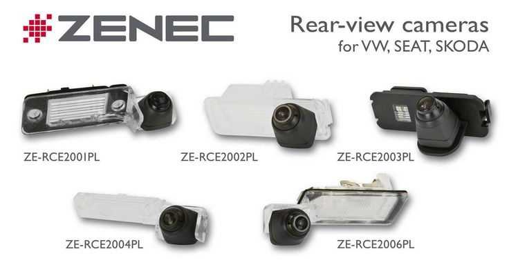 #Zenec Pasklare #achteruitrijcamera als vervanging van de #kentekenverlichting. Geschikt voor #VW, #Seat, #Skoda.