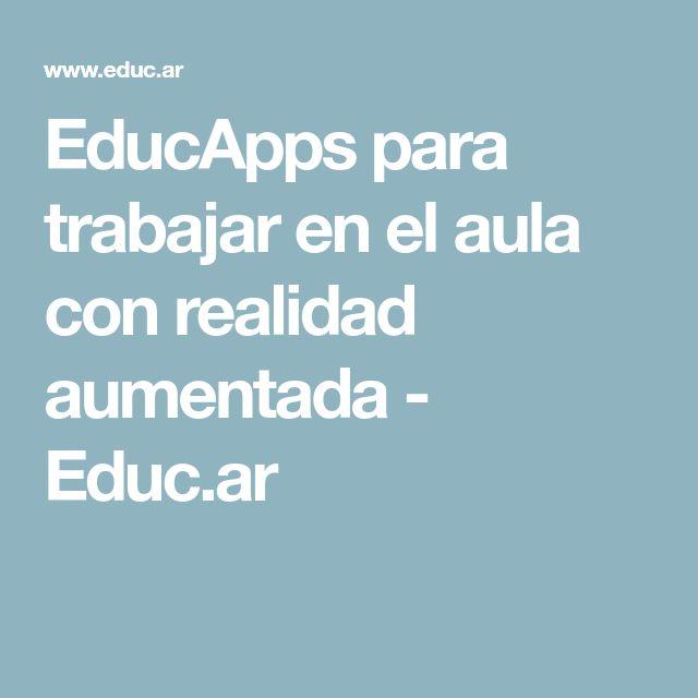 EducApps para trabajar en el aula con realidad aumentada