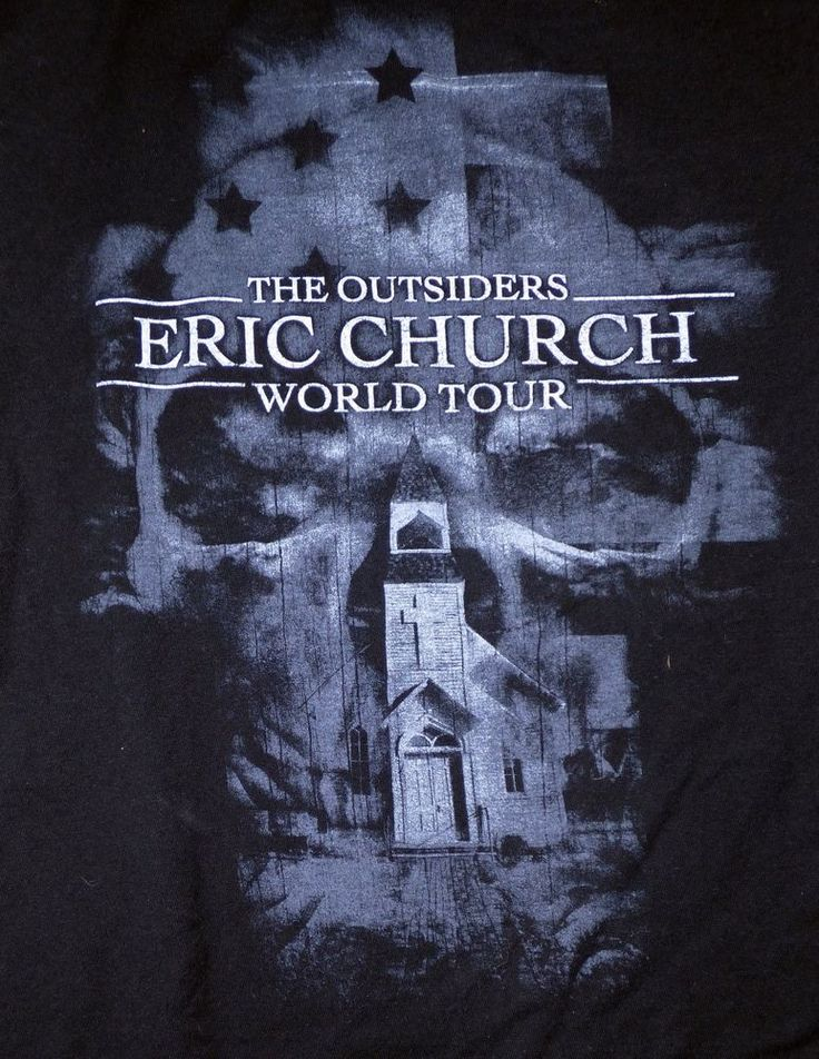 Eric Church The Outsiders world Tour 2011 Tour Shirt Size Small Double Sided #Tultex #GraphicTee