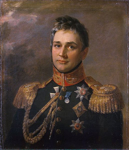 Painting of General Prince Mikhail Semyonovich Vorontsov (1782-1856) Russia by George Dawe in The Military Gallery of the Winter Palace in St. Petersburg, Russia. The gallery holds the portraits of those who took part in the Patriotic War of 1812.