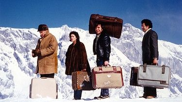 v.l.: Toni Berger, Hannelore Elsner, Elmar Wepper, Robert Giggenbach | Bild: BR/Tellux-Film