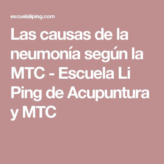Las causas de la neumonía según la MTC - Escuela Li Ping de Acupuntura y MTC