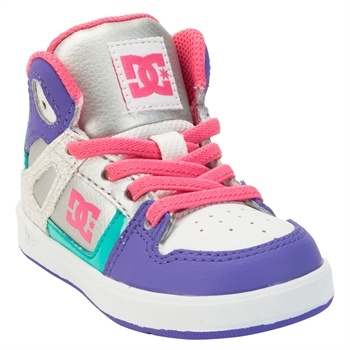 dc shoes girls. dc shoes girls 1st walker rebound high top sneakers, has all my favorite colors dc f