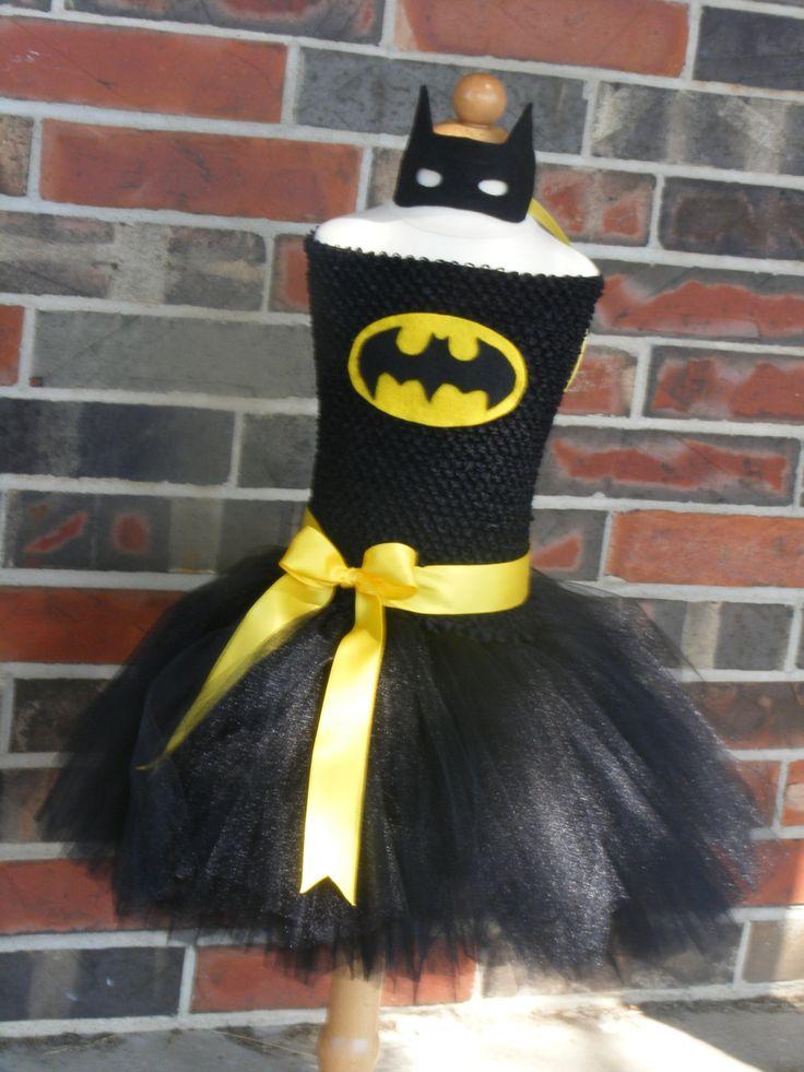 superhero tutu dress - batman inspired - Batgirl tutu - Halloween - Birthday costume size newborn to 4t,5, 6, 7, 8, 9, 10 years - costume by PamperedPaisley on Etsy