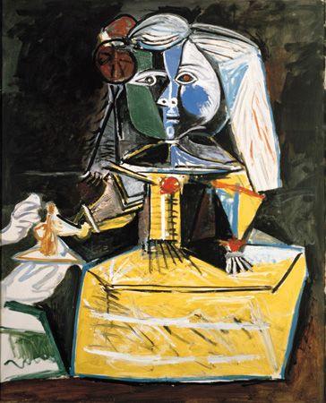 Las Meninas (infanta Margarita María), Picasso 1957