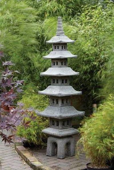 Borderstone Seven Piece Pagoda Oriental Garden Ornament