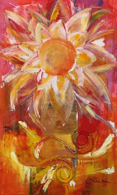 """Saatchi Art Artist Florin Coman; Painting, """"Flower Touch"""" #art"""