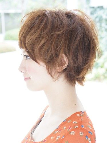 Cute Asian Hairstyle side view
