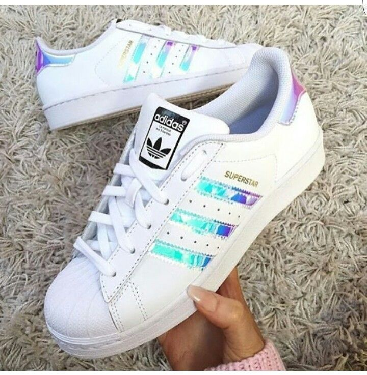 Adidas Shoes - Decided to keep- Superstar hologram sneakers