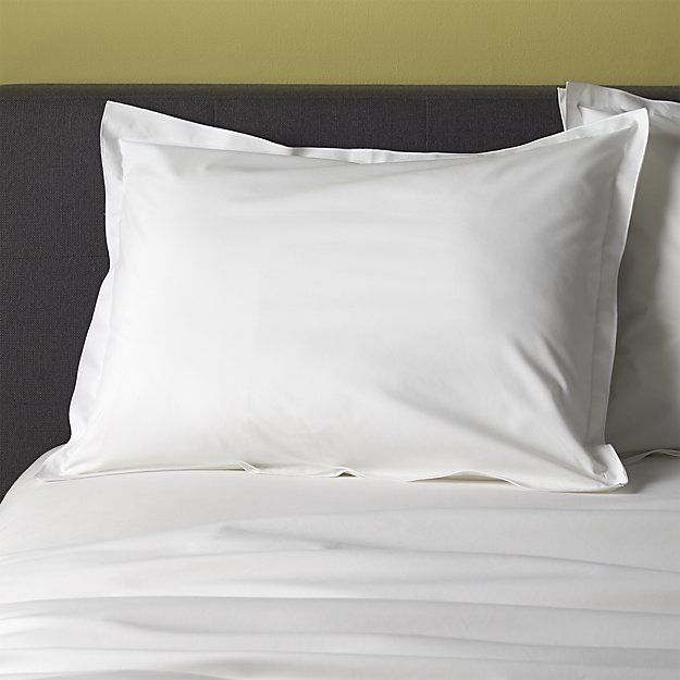 Belo White Duvet Covers and Pillow Shams | Crate and Barrel