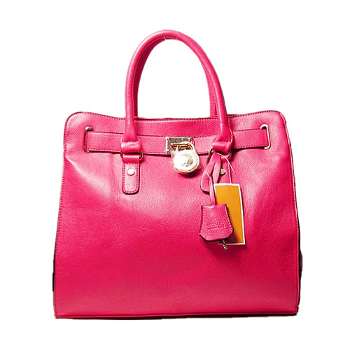 Michael Kors Rose Red Leather Tote