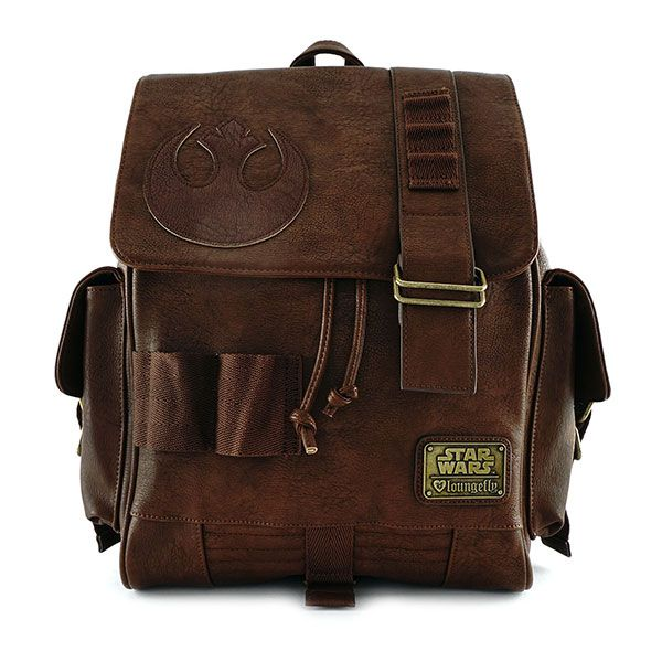 This version of Rey's backpack from Loungefly features a flap with a magnetic snap closure and cinch underneath to keep all your stuff safe. Plus it has a top handle for grab-and-go action when those Stormtroopers show up, because they always do.