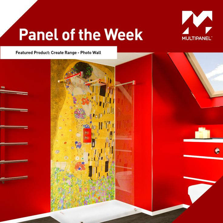 Panel of the Week!  This week our featured #paneloftheweek is our Create Range – Photowall  #GustavKlimt -  #TheKiss
