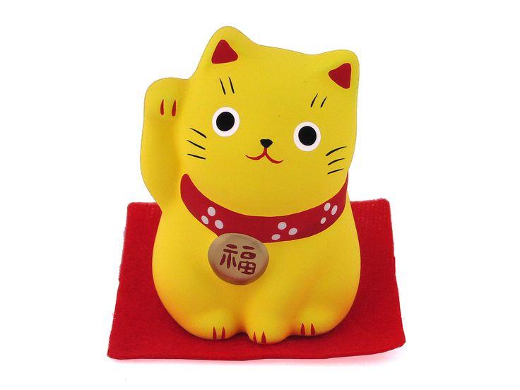 Resultado de imagem para Um pouco sobre os Gatos da Sorte japoneses Amarelo