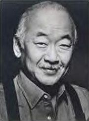 Pat Morita  1932 - 2005 best known for karate kid  mr miyagi     wax on wax off