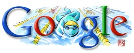Google Doodle: Summer Olympics 2008: Swimming