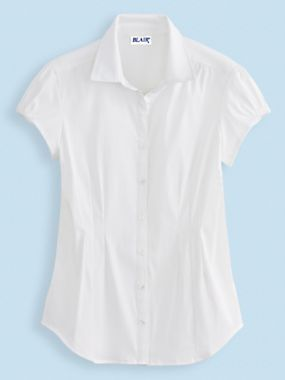 Cap Sleeve Shirt   Outlet - great blouse for work!